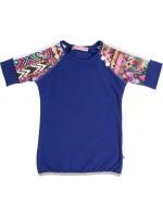 Waaaw t-shirt Peace Kobalt