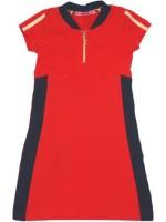 Waaaw jurk zipper s/s rood