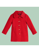 Petit Louie Anais Coat Biscuit Scarlet Red