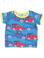 Blauw t-shirt met takelwagens van het Deense merk Smafolk. Het t-shirt is gemaakt van 50% Oekotex gecertificeerd katoen, 45% modal en 5% elastane.