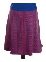 Rok met rood/blauwe print van het Belgische merk Froy & Dind. De rok is gemaakt van 95% biologisch katoen en 5% elastane.