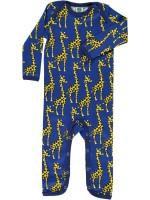 Smafolk jumpsuit giraffen blauw