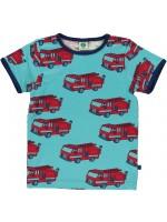 Smafolk t-shirt brandweerwagens blauw (baby)