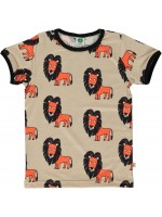 Smafolk t-shirt leeuw sand