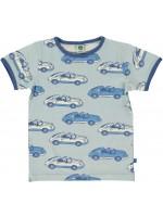 Smafolk t-shirt auto lichtblauw