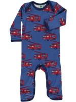 Smafolk jumpsuit brandweerwagen blauw