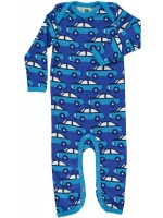 Smafolk jumpsuit auto's blauw