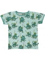 Smafolk t-shirt octopus snorkel blauw