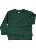 Smafolk sweater krokodillen groen
