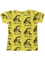 Smafolk t-shirt giraffes geel
