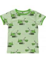 Smafolk t-shirt graafmachine zachtgroen