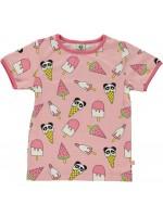 Smafolk t-shirt panda/ice cream roze