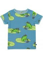 Smafolk t-shirt kikkers blauw