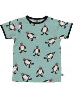 Smafolk T-shirt Pinguin Blauw