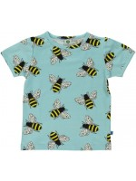 Smafolk t-shirt bijen aqua