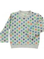 Smafolk sweater appels grijs