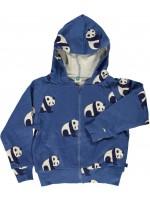 Smafolk vest panda's blauw