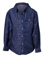 Soepel jeans overhemd met dinoprint van het Belgische merk Someone.