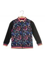 Navy velours vest met vlinderprint en glitter details van het Belgische merk Someone. Kan ook als jasje gedragen worden.