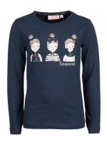 Someone longsleeve Flower Girls navy