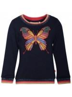 Navy sweater met vlinder en glitter details van het Belgische merk Someone.