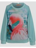 Sweater met flamingo van het Belgische merk Someone.