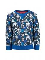 Someone sweater Robot Dark Blue