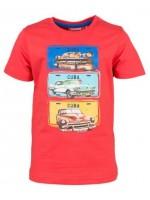 Rood t-shirt met Cuba cars van het Belgische merk Someone.