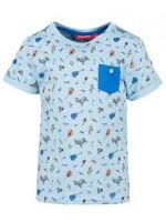 Lichtblauw t-shirt met print van het Belgische merk Someone.