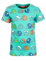 Someone t-shirt helmets bluegreen