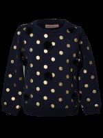 Someone sweater pompom dark blue