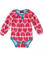 Maxomorra romper hearts pink