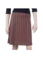 Zwarte rok met print van het Belgische merk Froy & Dind.  De rok is gemaakt van biologisch katoen.
