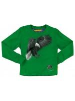 Stoere groene longsleeve met adelaar van het hippe Belgische merk Stones & Bones.