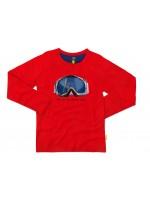 Stoere rode longsleeve met skibril van het hippe Belgische merk Stones & Bones.