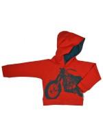 Baba-Babywear hoodie rood met motor