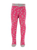 Melton maillot roze/ grijze dot
