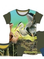 Wild T-shirt Army Crane Bird