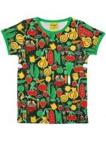 T-shirt met groenteprint van het Zweedse merk Duns Sweden.