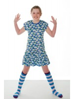 Duns Sweden jurk marguerite blauw