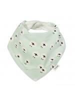 Gevoerde bandana slab met schapen van het merk Trixie Baby.   De slab is gemaakt van biologisch katoen.