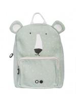 Mr. Polar Bear rugzak van het merk Trixie Baby.   De rugzak is gemaakt van biologisch katoen.