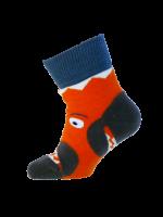 Vrolijk oranje krab kletskous van het hippe merk Ubang uit Denemarken. Speel met de sok door je hand in de sok te doen en kletsen maar met deze hippe kletskousen.