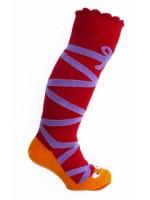 Hippe ballet kletskousen van het Deense merk Ubang. De sok is een handpop, spelen maar met je sokken.