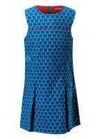 Toffe blauwe jurk met poezen van het Belgische merk Someone. De jurk is gemaakt van fijne ribstof.