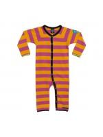 Roze/oranje gestreepte jumpsuit van het Zweedse merk Villervalla.