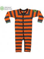 Villervalla jumpsuit streep carrot/indigo