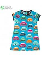 Villervalla jurk auto blauw