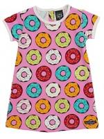 Villervalla jurk donuts roze