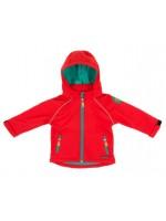 Prachtige rode softshell jas van het Zweedse merk Villervalla.